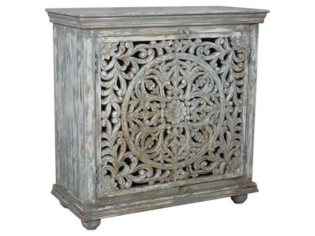 Crestview Collection Accent FurnitureMango Wood Carved Cabinet