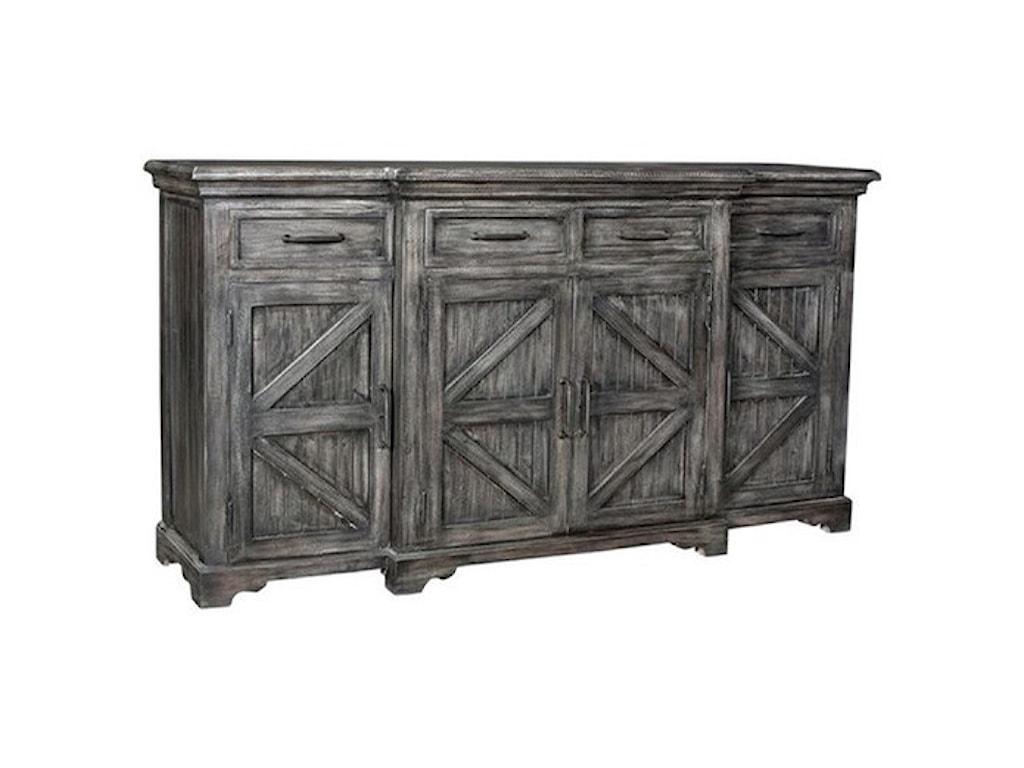 Crestview Collection Accent FurnitureMango Wood 4 Door Sideboard
