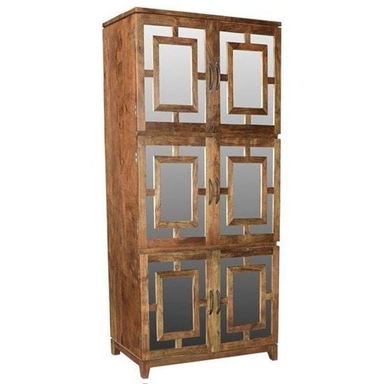 Crestview collection accent furnitureacacia wood 6 door cabinet