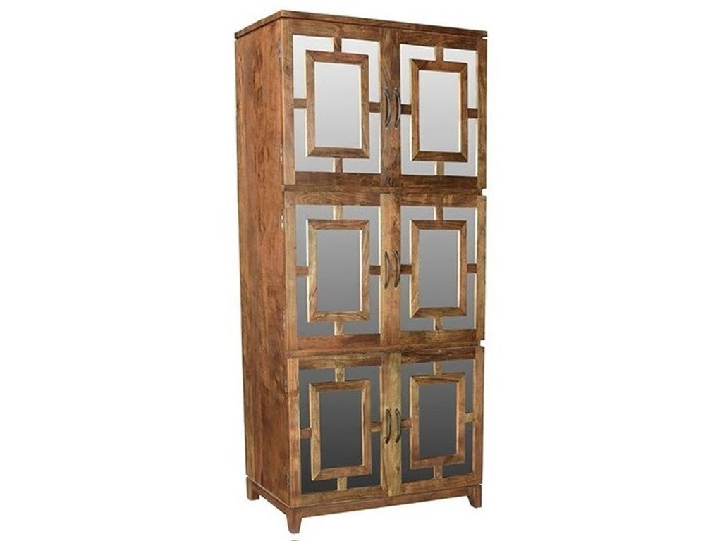 Crestview collection accent furnitureacacia wood 6 door cabinet
