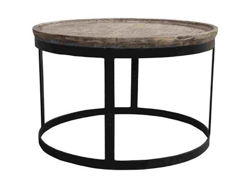 Crestview Collection Accent FurnitureMango Wood and Metal End Table