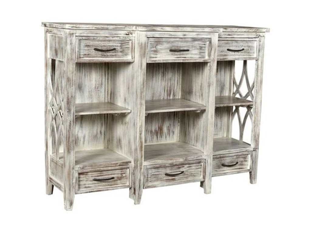 Crestview Collection Accent FurnitureMango Wood 6 Drawer Console