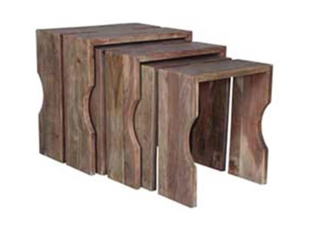 Crestview Collection Accent FurnitureAcacia Wood Nested Tables