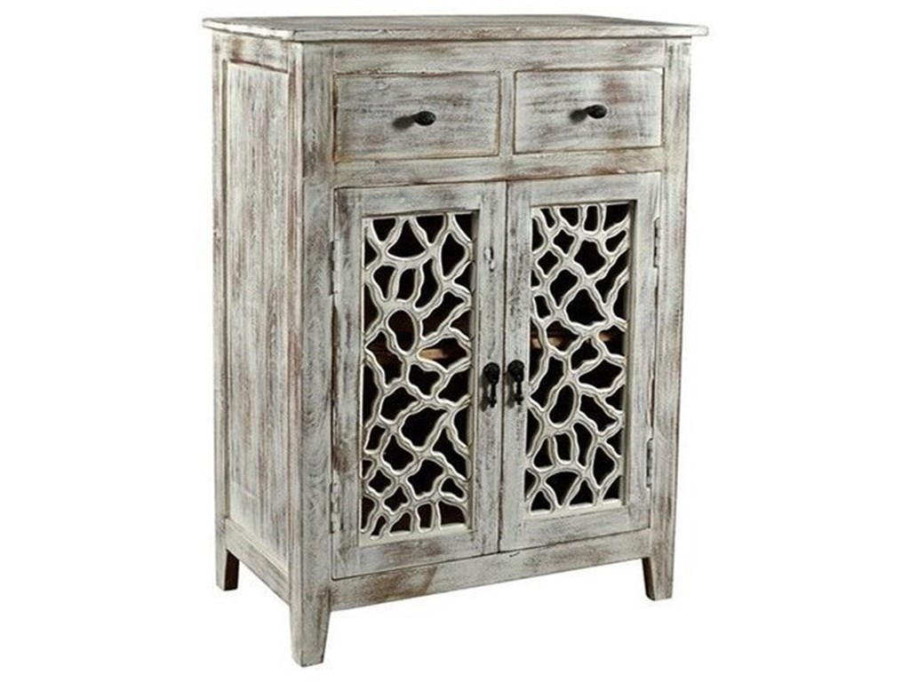Crestview Collection Accent FurnitureMango Wood 2 Drawer Cabinet