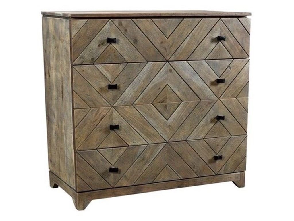 Crestview Collection Accent FurnitureAcacia Wood 4 Drawer Chest