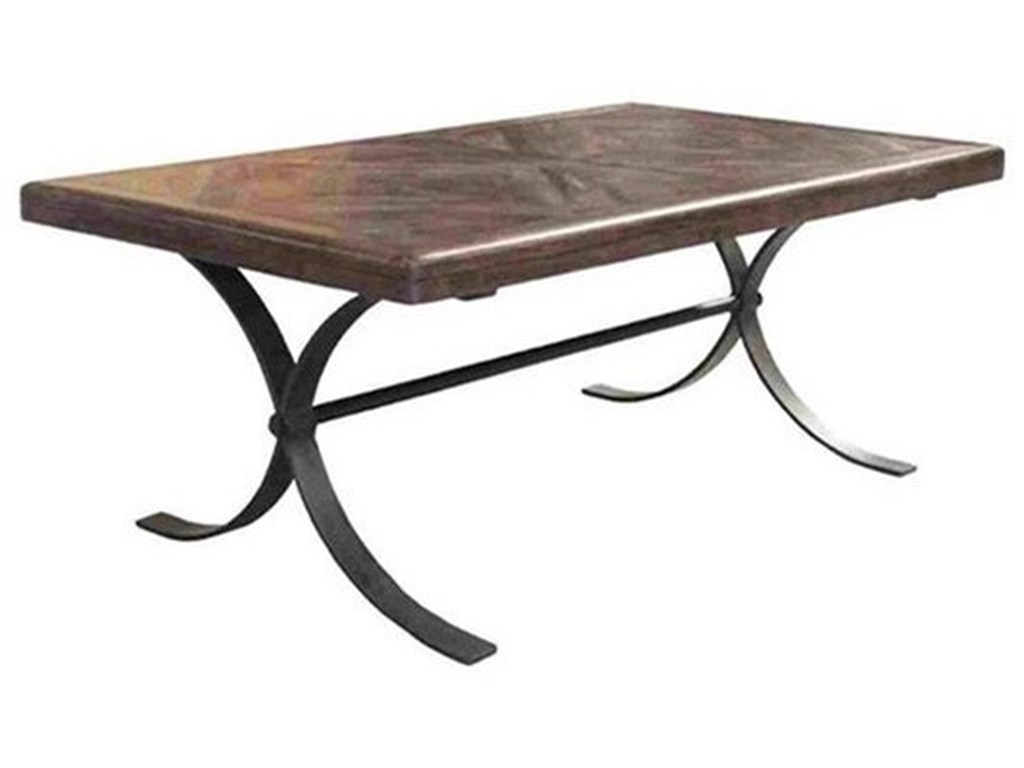 Crestview Collection Accent FurnitureIron and Wood Cocktail Table