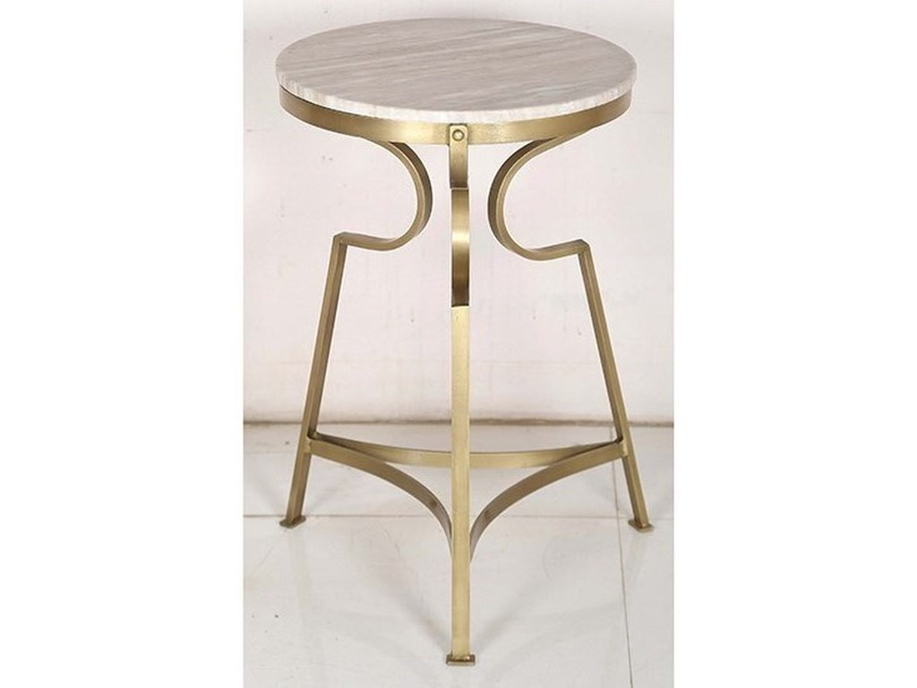 Crestview Collection Accent FurnitureIron and Marble Accent Table