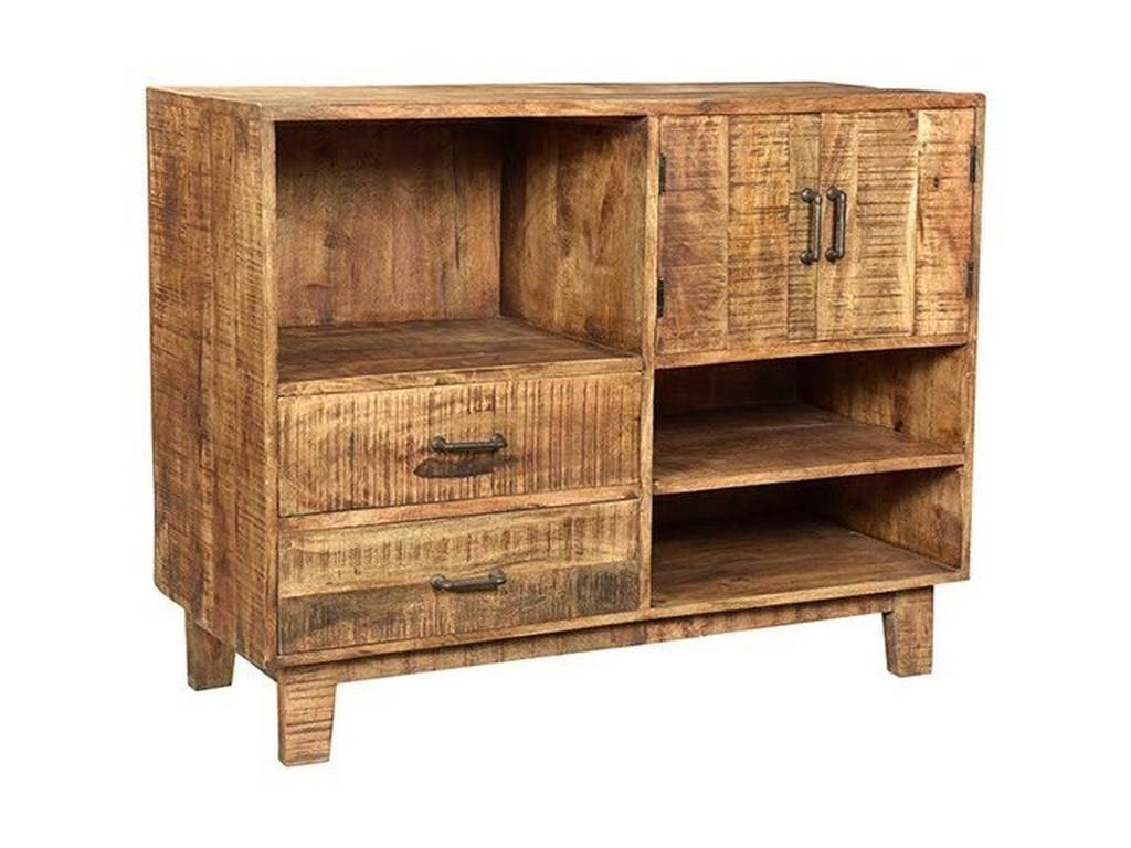Crestview Collection Accent FurnitureMango Wood Offset Console