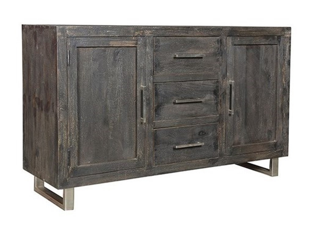 Crestview Collection Accent FurnitureMango Wood Ebony Sideboard