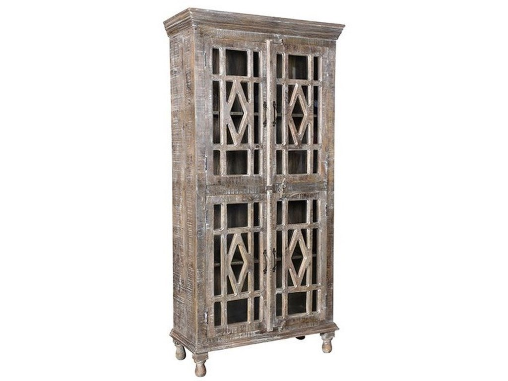 Crestview Collection Accent FurnitureMango Wood 4 Door Cabinet