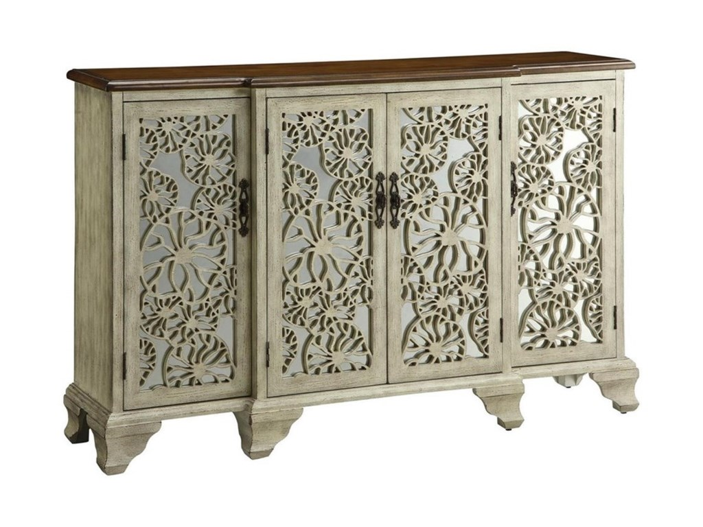 Crestview Collection Accent FurnitureHawthorne Antique White 4 Door Sideboard
