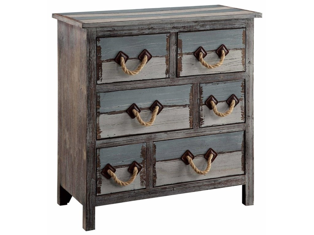 Crestview Collection Accent FurnitureNantucket 6 Drawer Weathered Wood Chest