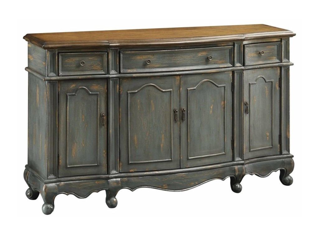 Crestview Collection Accent FurnitureChatsworth Grey 3 Drawer / 4 Door Credenza