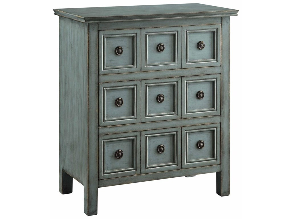 Crestview Collection Accent FurnitureFlorence Teal 3 Drawer Chest