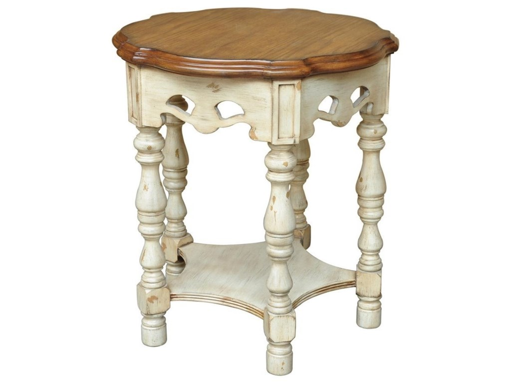 Crestview Collection Accent FurnitureSomerset Two Tone Accent Table