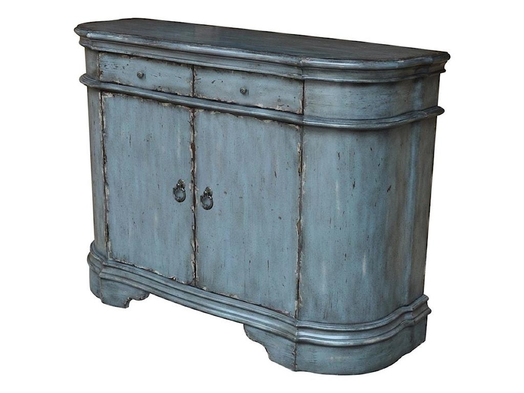 Crestview Collection Accent FurnitureHarrison Distressed Grey 2 Door Cabinet