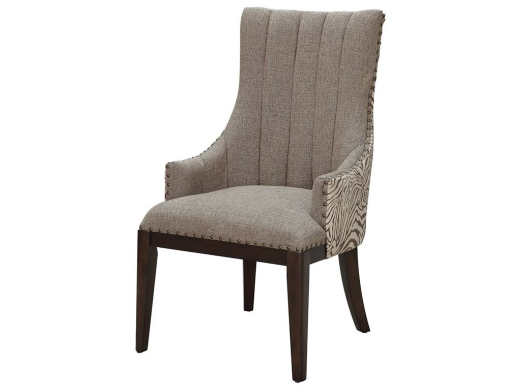 Crestview Collection Accent FurnitureSafari Two Toned Channel Back Chair