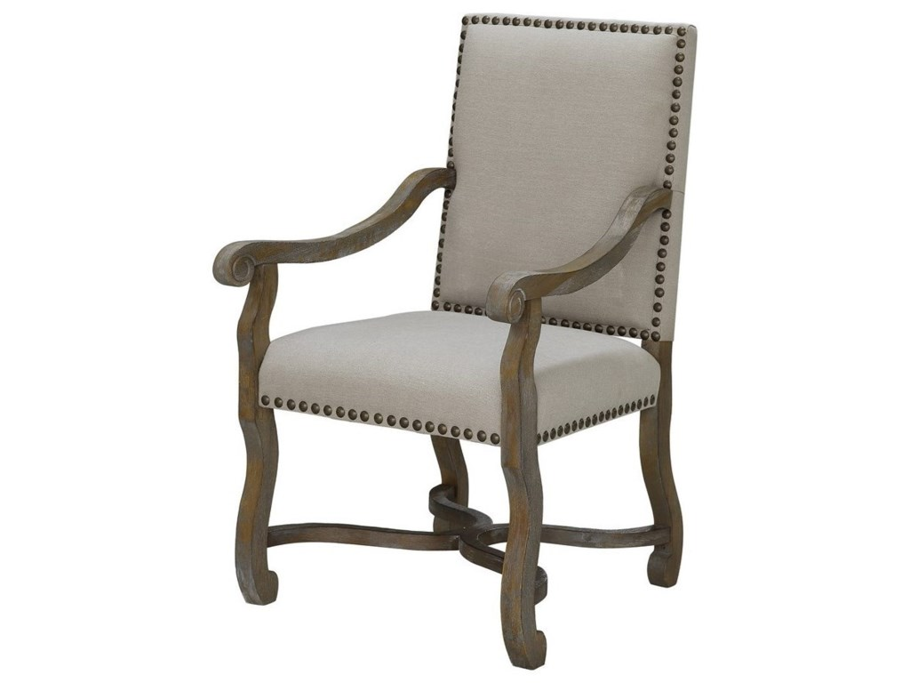 Crestview Collection Accent FurnitureSt. James Nailhead And Linen Chair