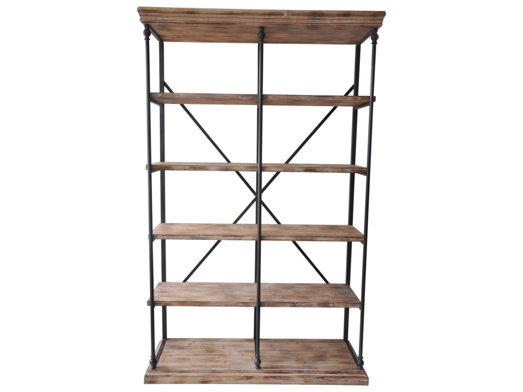 Crestview Collection Accent FurnitureLa Salle Metal and Wood Bookshelf