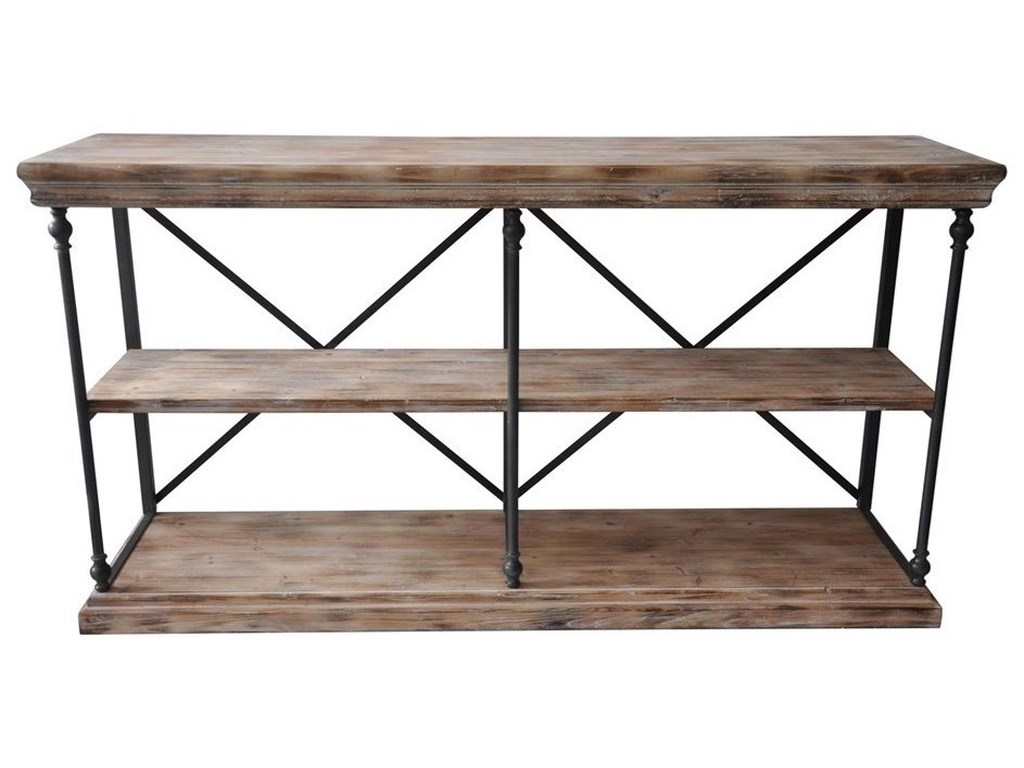 Crestview Collection Accent FurnitureLa Salle Metal And Wood Console