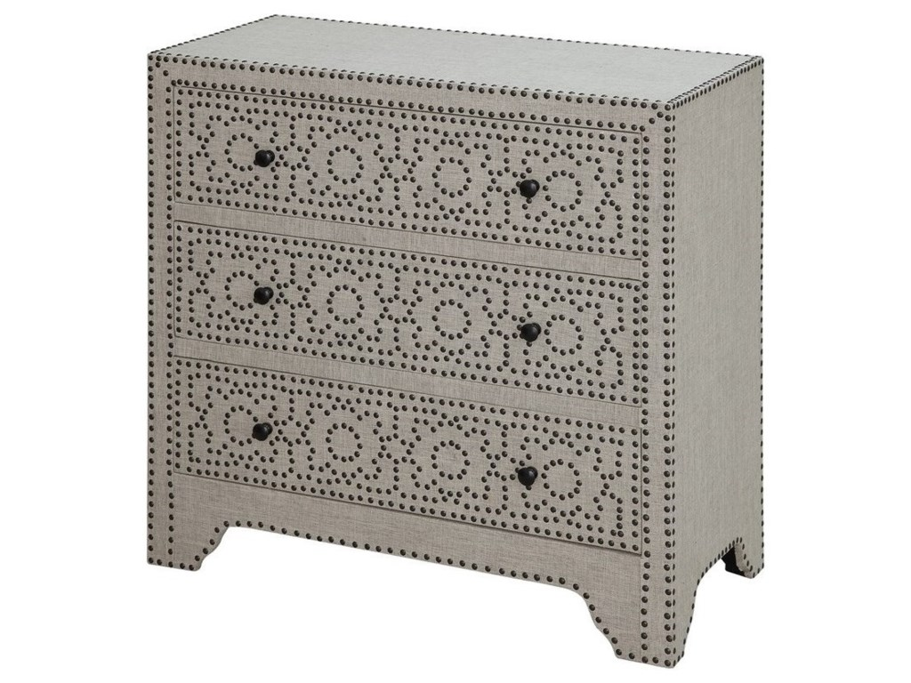Crestview Collection Accent FurnitureSpringfield 3 Drawer Nailhead Chest
