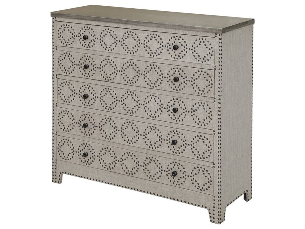 Crestview Collection Accent FurnitureSpringfield 4 Drawer Nailhead Chest
