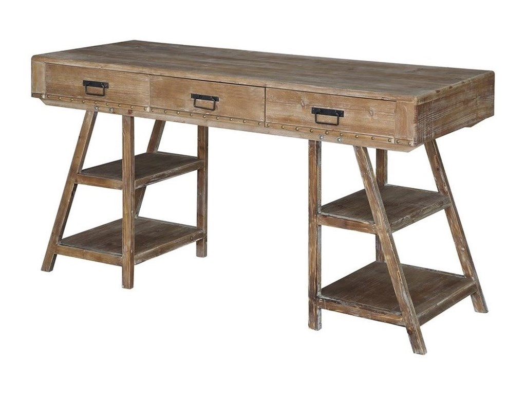 Crestview Collection Accent FurnitureJackson A Frame Rustic Desk