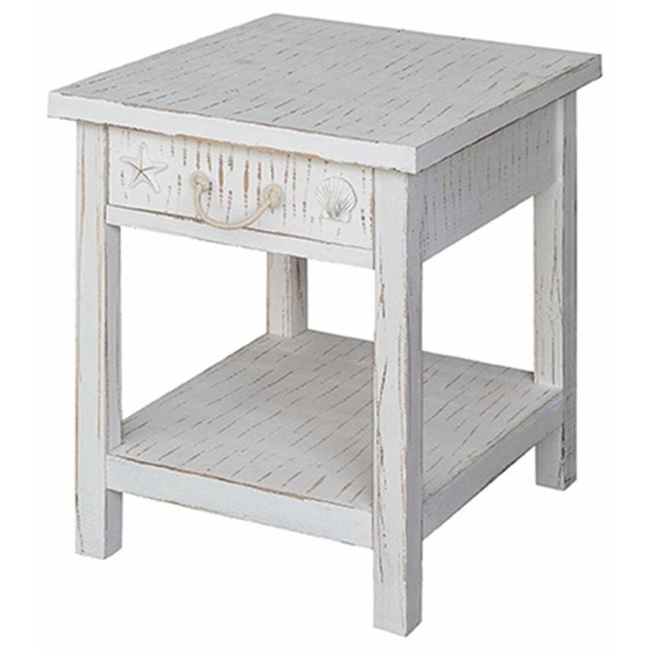 white coastal furniture. Accent Furniture Seaside White Coastal End Table