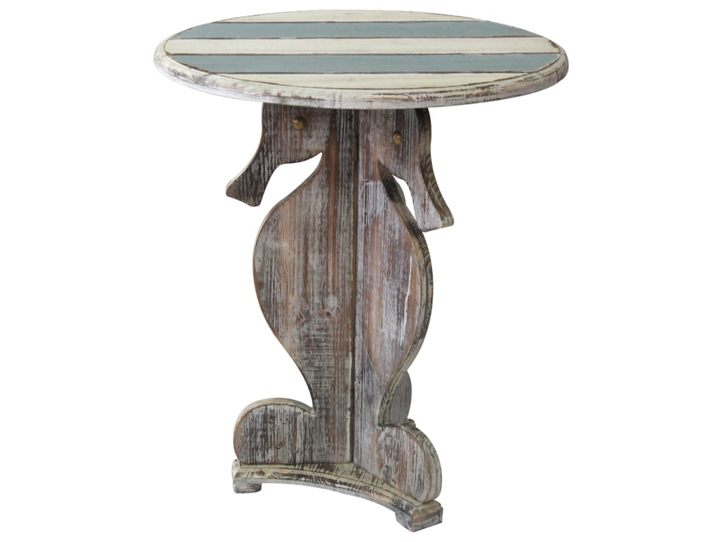Crestview Collection Accent FurnitureNantucket Seahorse Accent Table