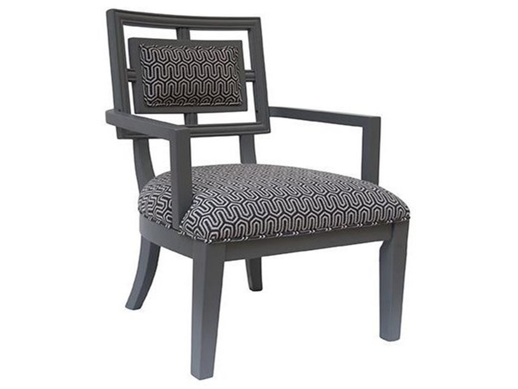 Crestview Collection Accent FurnitureSydney Geometric Pattern Grey Accent Chair