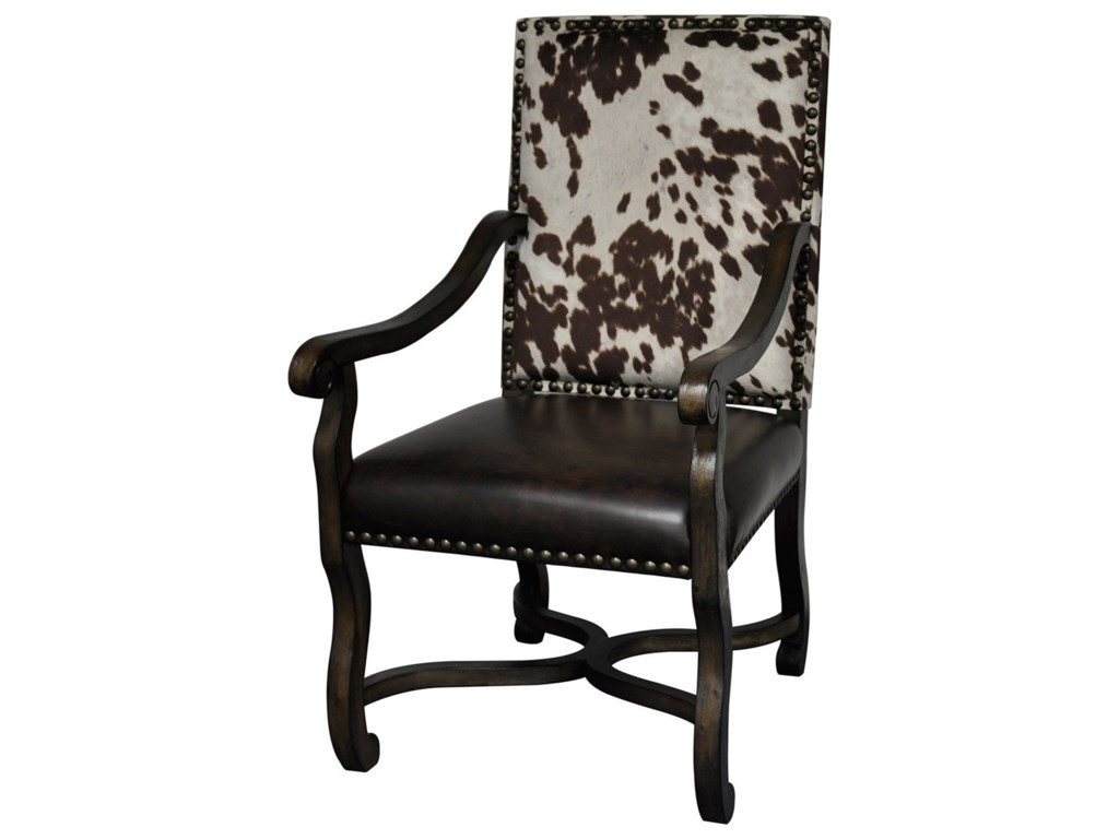 Crestview Collection Accent FurnitureMesquite Ranch Leather & Faux Cowhide Chair