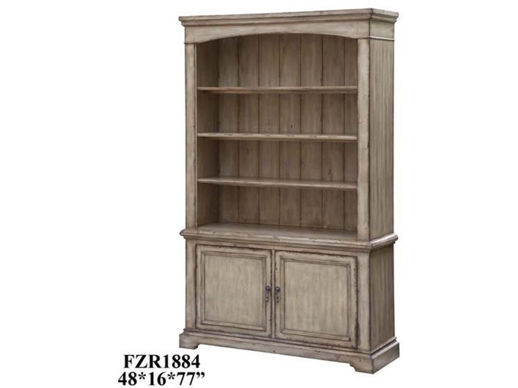 Crestview Collection Accent FurnitureBrookhaven 2 Door / 3 Shelf Distressed Parch