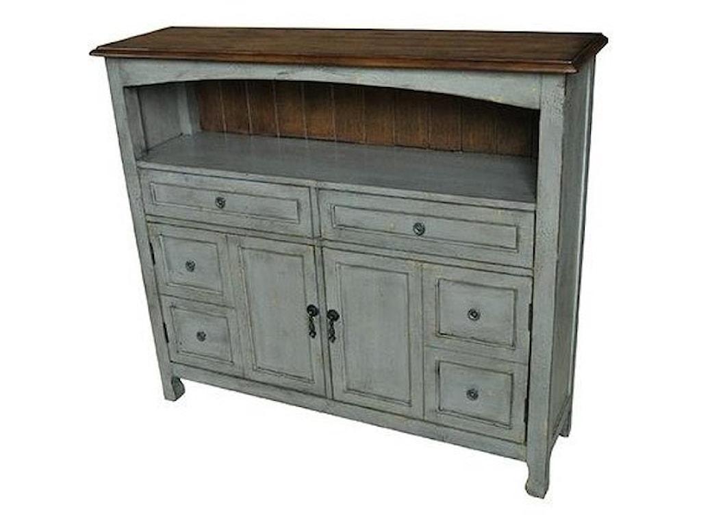 Crestview Collection Accent FurnitureBedford 2 Drawer / 2 Door Sage Grey Cabinet
