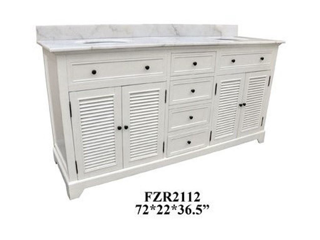 Crestview Collection Accent FurnitureDouble Vanity Sink