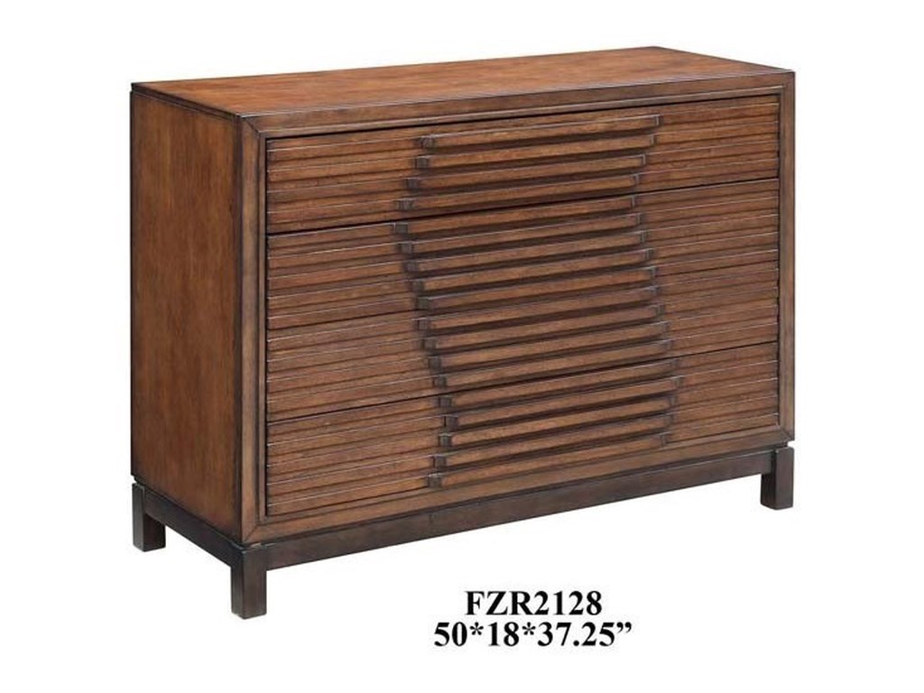 Crestview Collection Accent FurnitureBradley 4 Drawer Raised Panel Chest in Chest