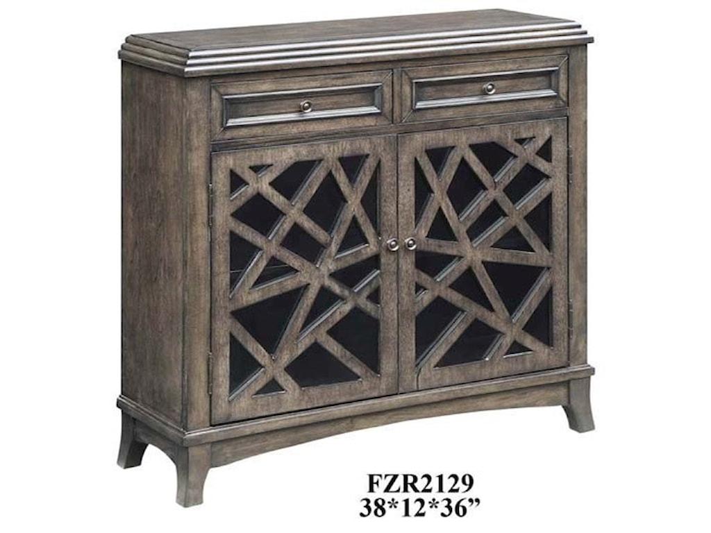 Crestview Collection Accent FurnitureKingsbury Crazy Cut 2 Door 2 Drawer Cabinet