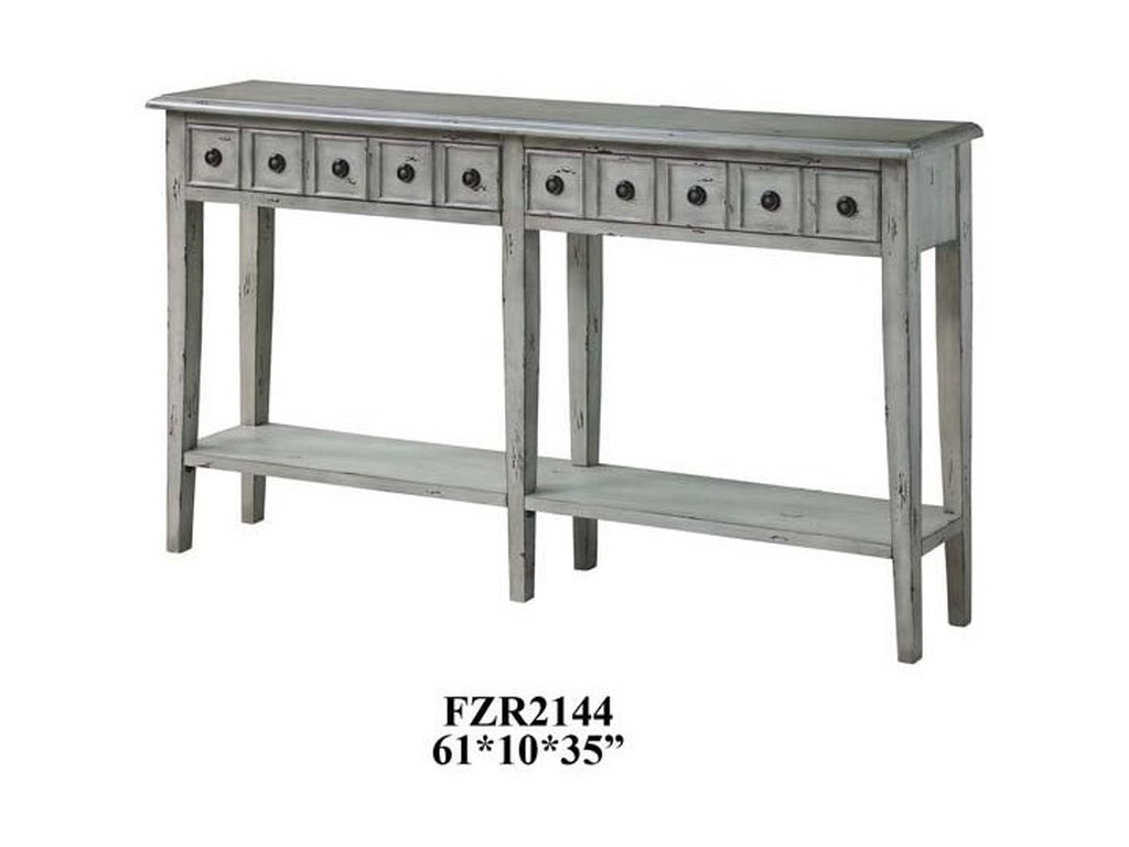 Crestview Collection Accent FurnitureNewcastle 2 Drawer Antique White Console