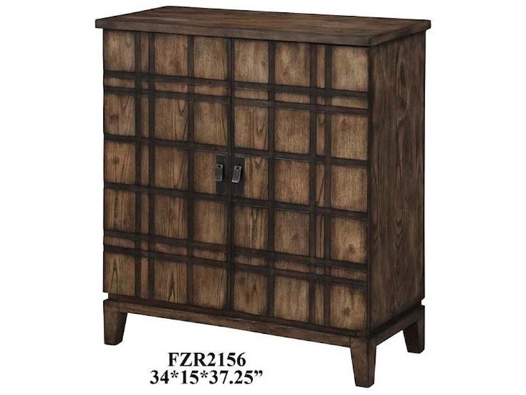 Crestview Collection Accent FurnitureFairfax Plaid Oak 2 Door Cabinet