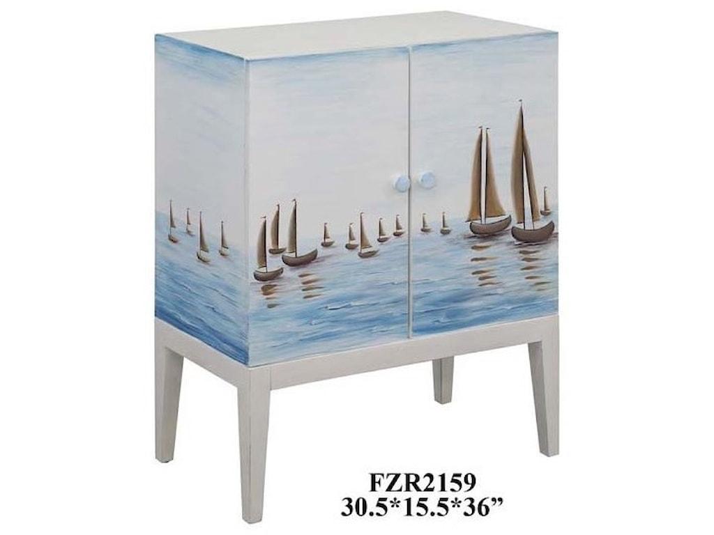 Crestview Collection Accent FurnitureHarbor View 2 Door Sailboat Cabinet