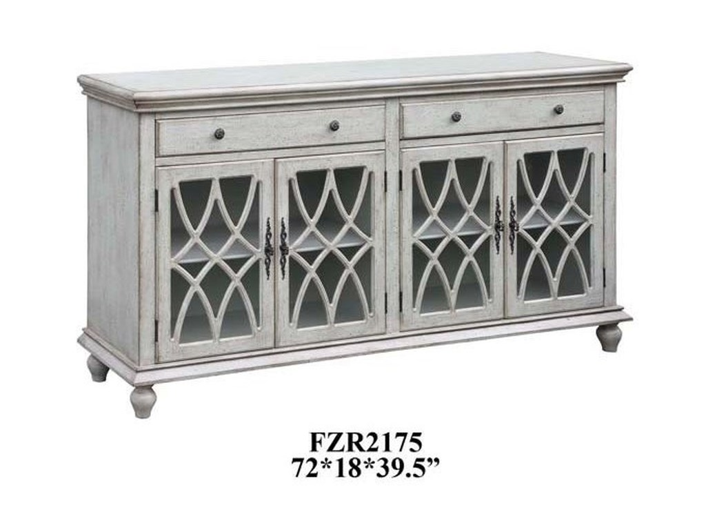 Crestview Collection Accent FurniturePaxton Pale Grey Sideboard