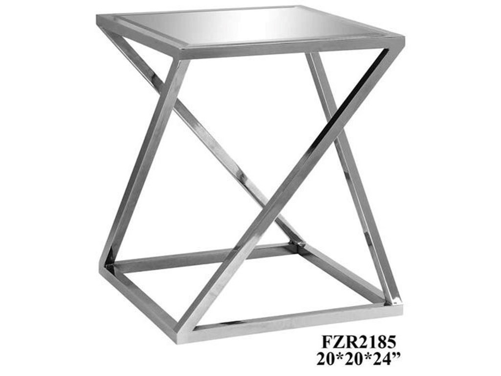 Crestview Collection Accent FurnitureBentley Chrome Z Accent Table