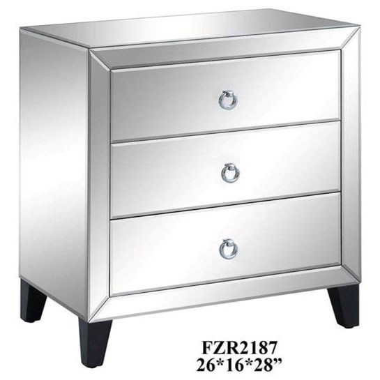 Perfect Crestview Collection Accent Furniture Bentley 3 Drawer Beveled Mirrord  Chest   Great American Home Store   Accent Chests