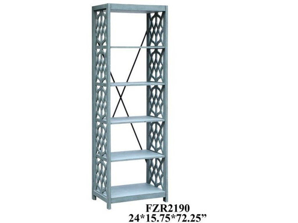Crestview Collection Accent FurnitureGlen Abbey Textured Stone Grey Etagere