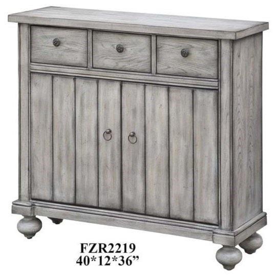 Crestview Collection Accent Furniturepaxton White Oak  Door Cabinet