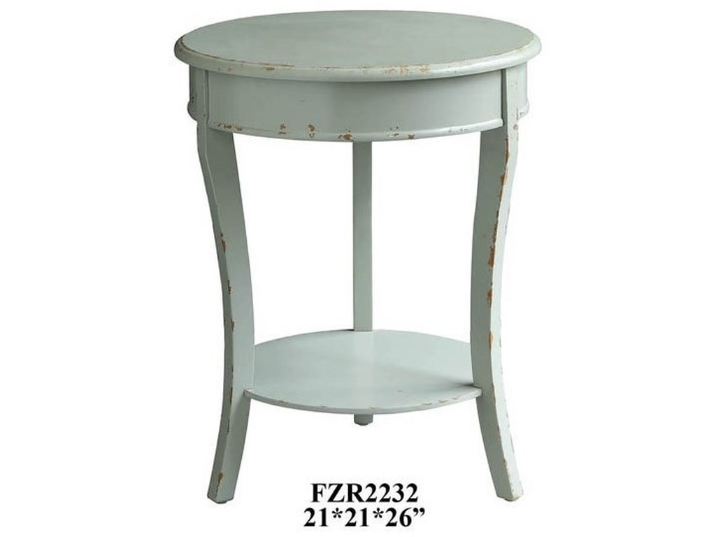 Crestview Collection Accent FurnitureDarcy Shaped 3 Leg Ash Grey Accent Table