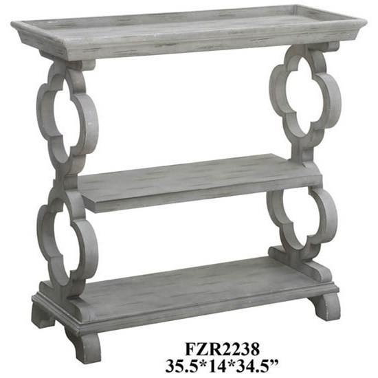 Exceptionnel Crestview Collection Accent Furniture Chelsea Tray Top Grey Quatrefoil  Console Table
