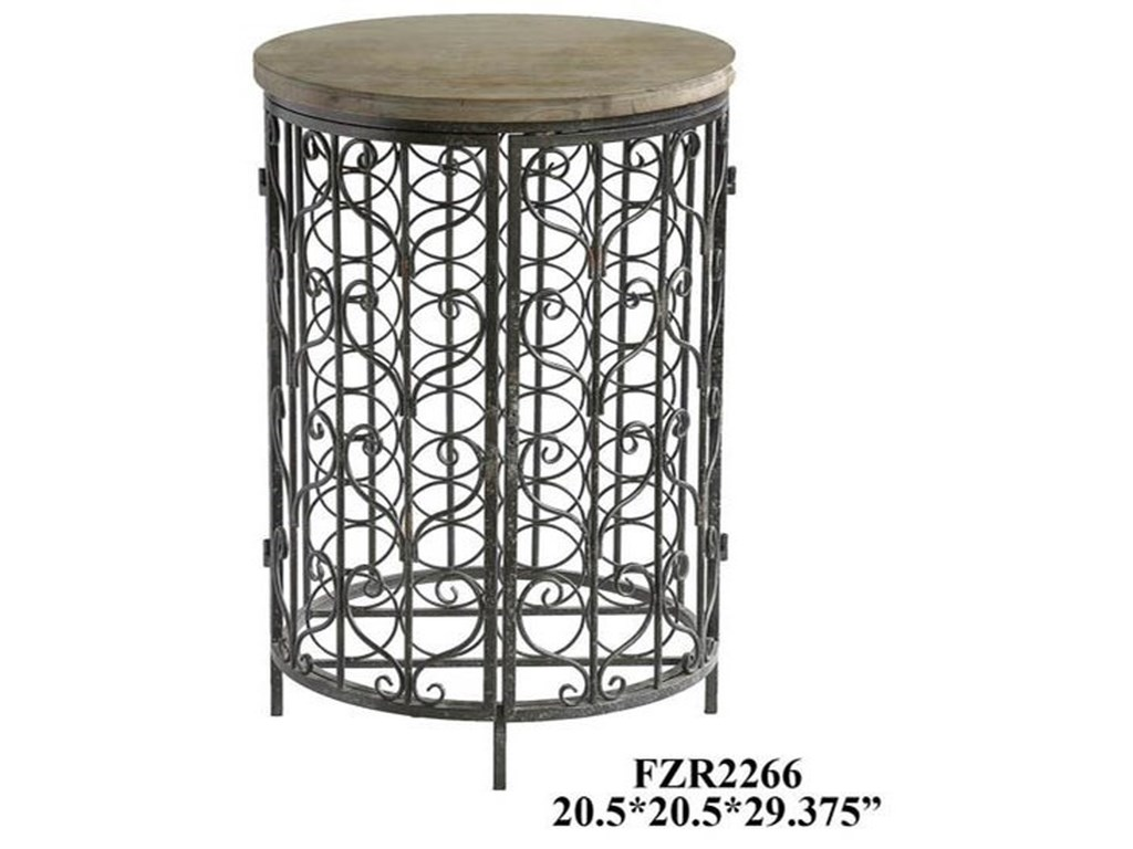 Crestview Collection Accent FurnitureSonoma Iron and Metal Rustic Wine Cabinet