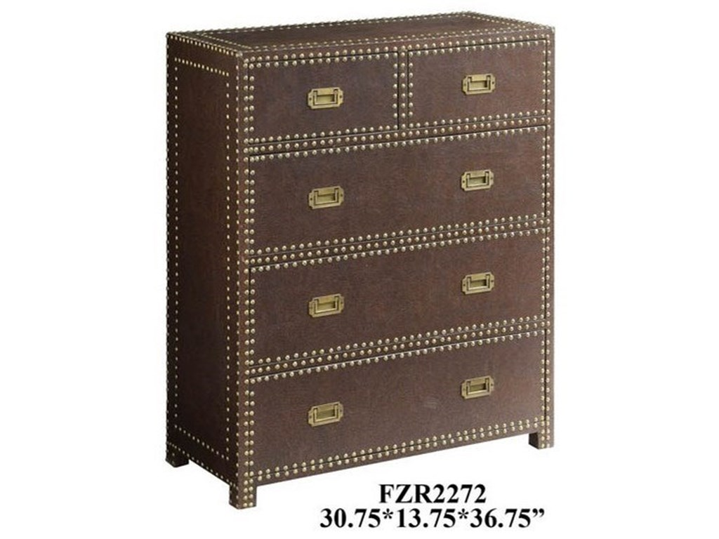 Crestview Collection Accent FurnitureChurchill Faux Leather Chest