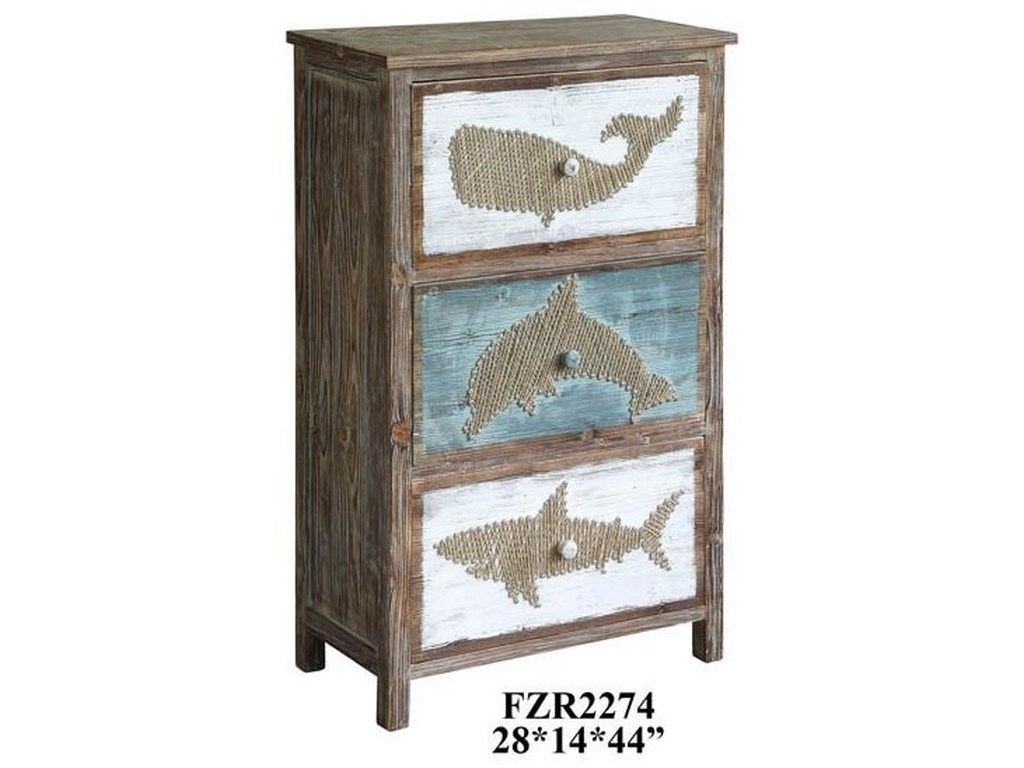 Crestview Collection Accent FurnitureNantucket Rustic Shark Chest