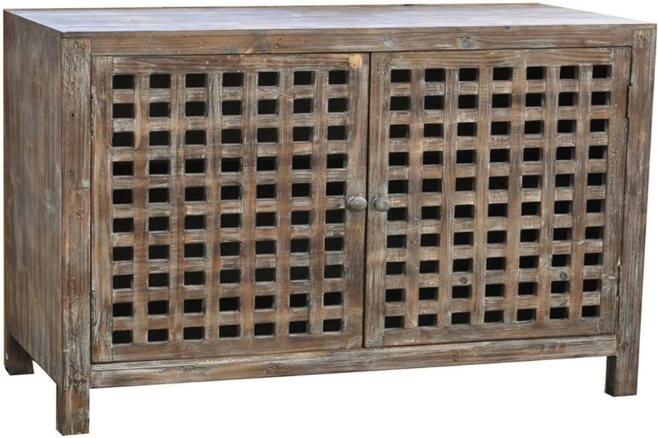 Crestview Collection Accent Furniture Solid Wood Industrial Style Buffet In  Rustic Wood Finish